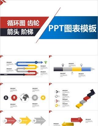 原创循环图关系图PPT信息图表模板