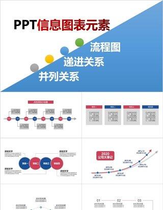 流程图递进并列关系PPT信息图表元素