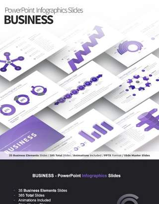 商业PPT信息图表模板 Business PowerPoint Infographics Slides