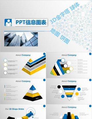 商务图形可视化PPT信息图表