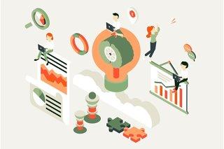 商务业务工作流程人物插画素材