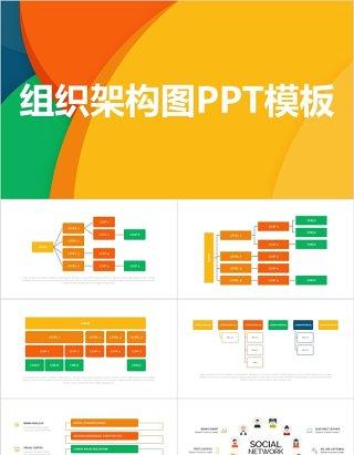 多样化组织架构图PPT模板