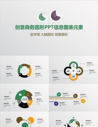 创意商务圆形PPT信息图表元素