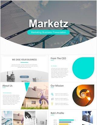 市场营销报告数据图表可视化PPT素材模板marketz powerpoint template
