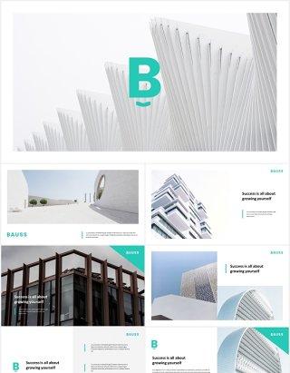 商业企业公司宣传介绍PPT模板bauss simple corporate powerpoint template