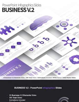 商业V.2PPT信息图表模板Business V.2 - PowerPoint Infographics Slides