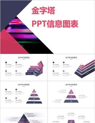 金字塔可视化PPT信息图表元素