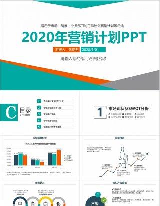 销售市场营销计划汇报PPT模板