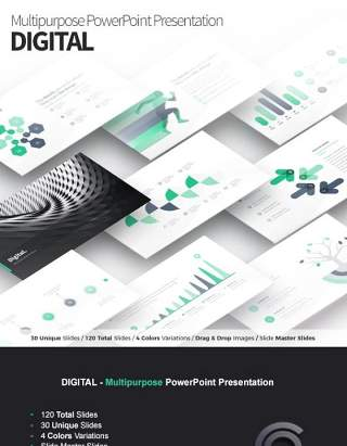 数字PPT信息图表模板Digital Multipurpose PowerPoint Presentation