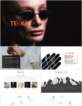 高端商务公司发展时间轴项目目标可视化图表PPT目标tekka powerpoint