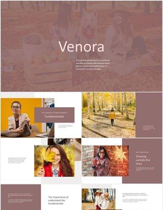 优雅时尚模特摄影展示PPT模板Venora - Elegant Powerpoint Template