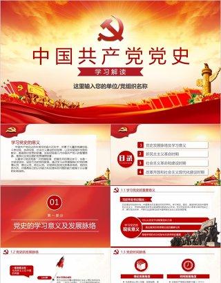 中国共产党党史党支部党员党课培训PPT