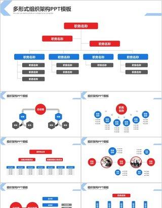 多形式组织架构图PPT模板
