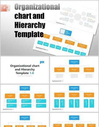 组织结构图层次结构PPT信息图表模板素材organizational chart and hierarchy template