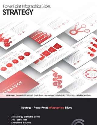 11套色系战略策略PPT信息图表幻灯片Strategy - PowerPoint Infographics Slides