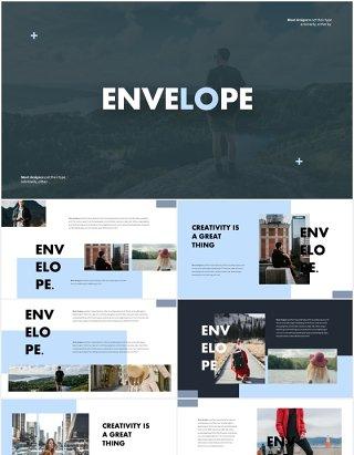 摄影展示国外PPT图片排版模板Envelope Powerpoint Template