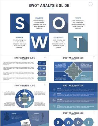 竞品分析模型PPT信息图表素材SWOT Analysis Slides Powerpoint Template