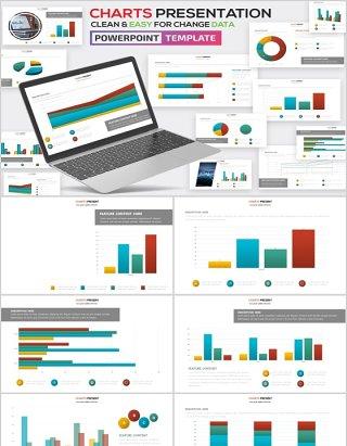 柱状图PPT信息图表模板可插图片Charts Powerpoint Template