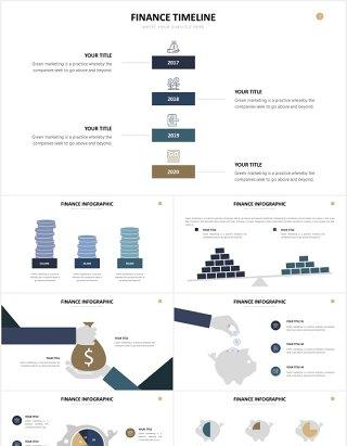 财务金融理财会计图形图表PPT素材Finance Slide Powerpoint Template