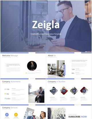高端商务工作计划总结报告国外PPT模板zeigla powerpoint template
