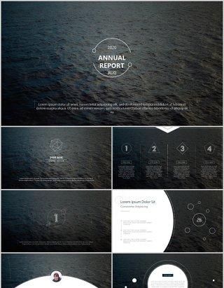 简约商务公司年度报告PPT模板annual report
