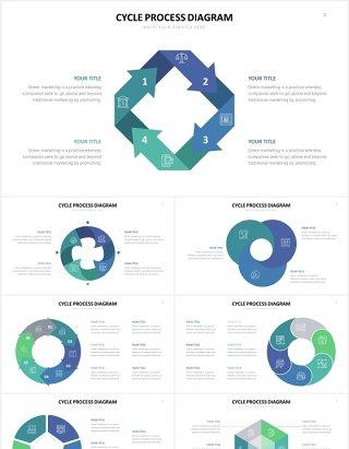 圆形循环关系信息图表PPT素材Cycle Powerpoint Template