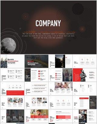 超实用商业商务公司宣传企业产品项目介绍可视化信息图表展示工作汇报总结PPT模板
