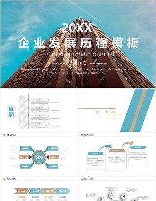 企业发展历程时间线PPT模板