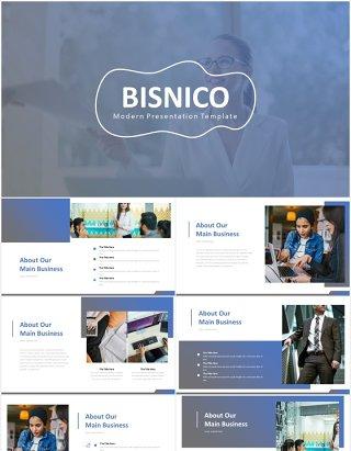 高端商业计划书工作报告国外PPT模板bisnico powerpoint template