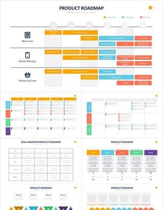 产品路线图列表表格表单PPT信息图表素材Product Roadmap Powerpoint Slides