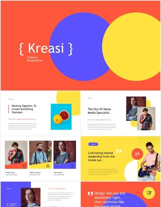 创意数字营销报告宣传介绍PPT模板kreasi digital marketing powerpoint template
