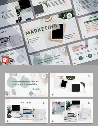 数字市场营销公司宣传介绍PPT版式模板Digital Marketing Company PowerPoint Presentation