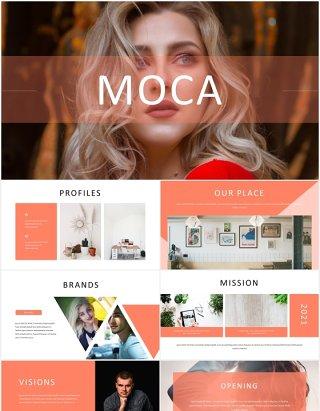 简约国外图片排版PPT图表模板Moca - Powerpoint Template