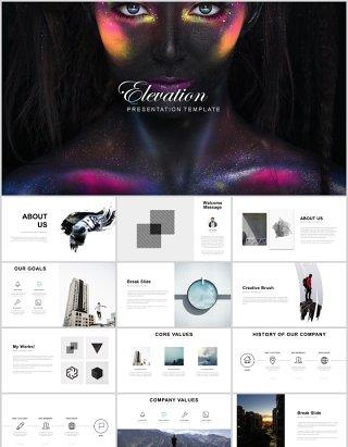 超实用企业简介产品项目宣传介绍PPT模板展示