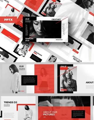 欧美时尚大气PPT版式模板设计Stuff Creative Powerpoint