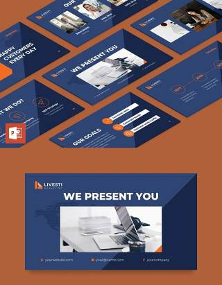 营销策划公司简介宣传PPT模板不含照片Marketing Agency PowerPoint Presentation Template