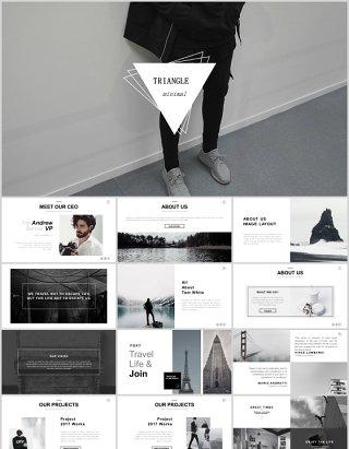 时尚简约公司项目产品宣传介绍PPT模板