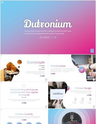 渐变时尚工作汇报国外PPT模板dutronium powerpoint template