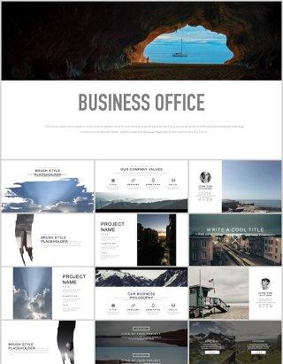 商业简约公司办公宣传介绍PPT模板business office