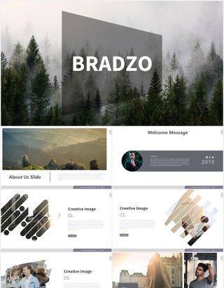 商务商业企业宣传介绍PPT模板bradzo powerpoint template