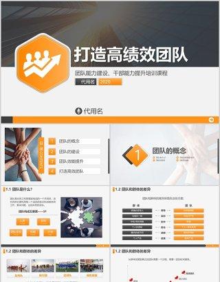 打造高绩效团队企业管理培训课程PPT模板