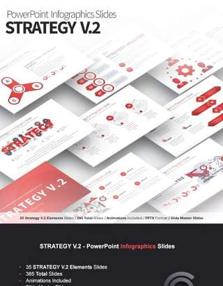 11套色系战略策略V.2PPT信息图表幻灯片Strategy V.2 - PowerPoint Infographics Slides