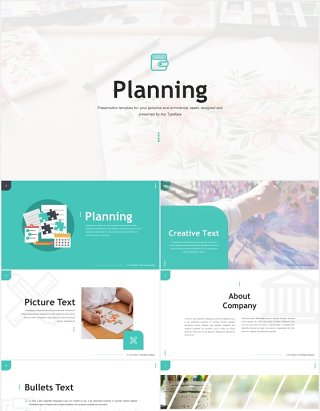 国外工作计划总结汇报PPT模板Planning - Powerpoint Template