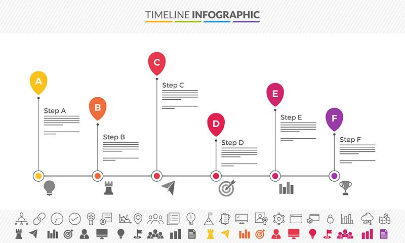 时间轴PPT图形图表设计