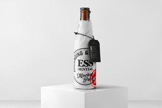平面VI设计提案、包装盒、瓶子、纸袋智能贴图样机场景模板PSD素材7