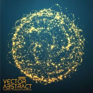 科技粒子图形矢量素材-18