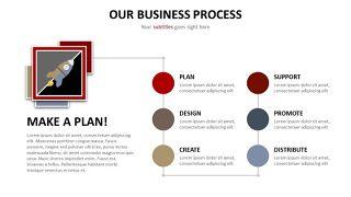 商务并列关系PPT图表-10