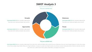 彩色SWOT关系PPT-6
