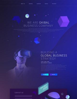 未来科技感产品VR人工智能AI网站网页模板PSD设计素材-2