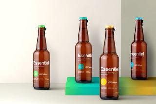 平面VI设计提案、包装盒、瓶子、纸袋智能贴图样机场景模板PSD素材8